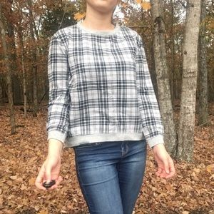 Forever 21 | Gray Plaid Pullover